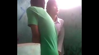 Bhutanese Nepali girl in uniform fucks in public toilet resulting in custom all