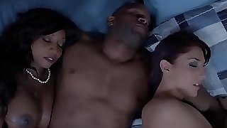 Dark-hued housewife and friend cum exchanging