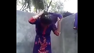 Desi girl posing nude for boyfriend in bathroom